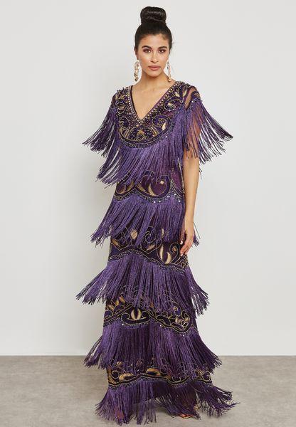 Embellished Tassel Dress