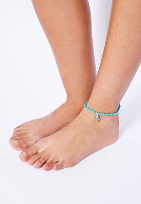 Ginger Stone Detail Anklet