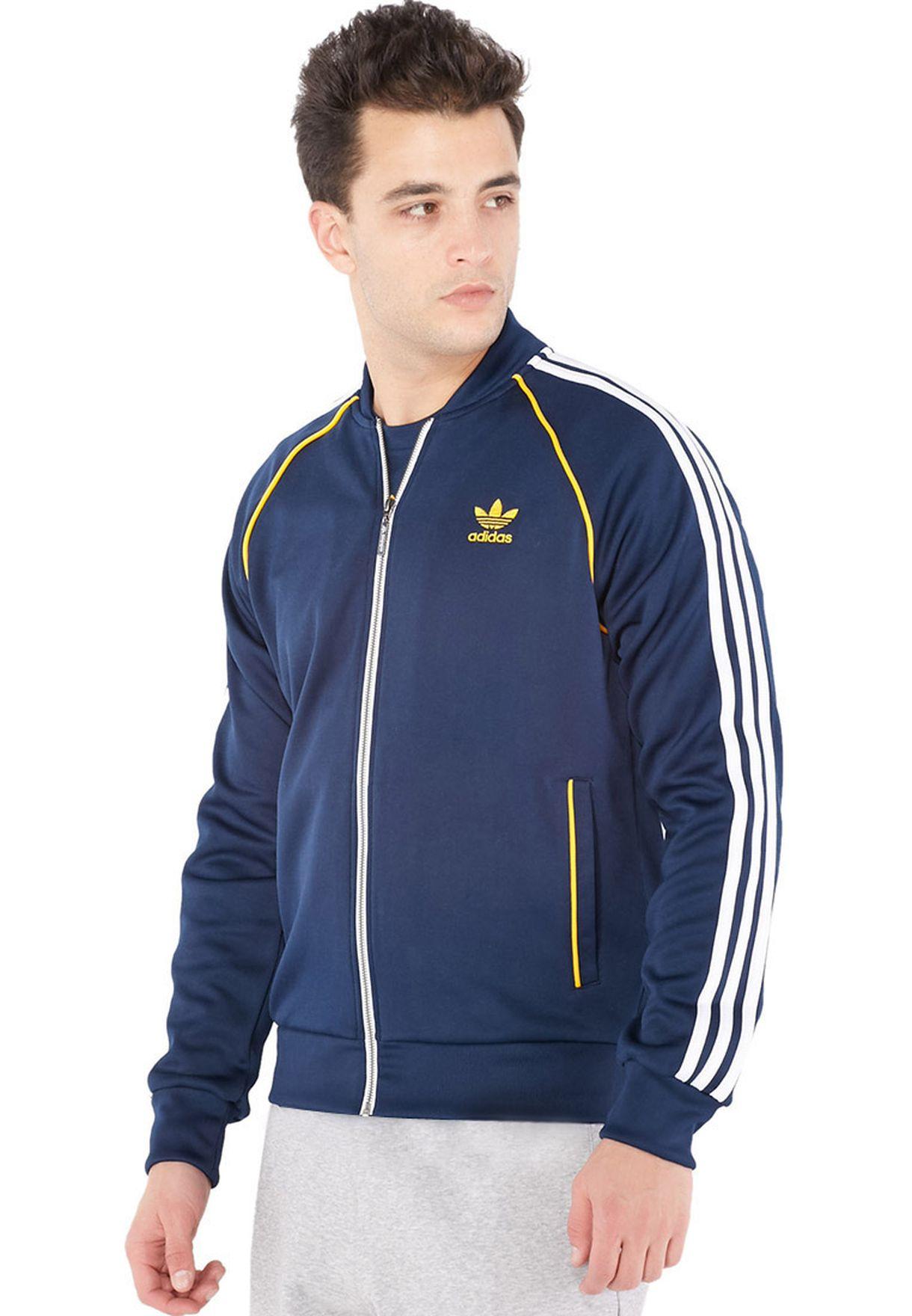 c0125cfd41ac Shop adidas Originals blue Essential Trefoil Track Jacket S19174 for ...