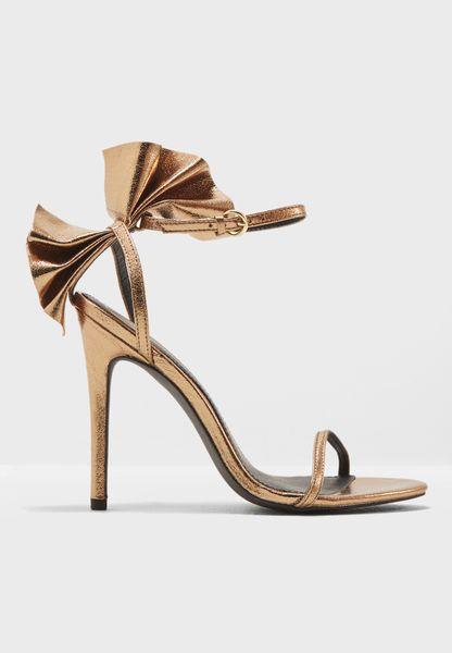 Ruffle Ankle Strap Sandal