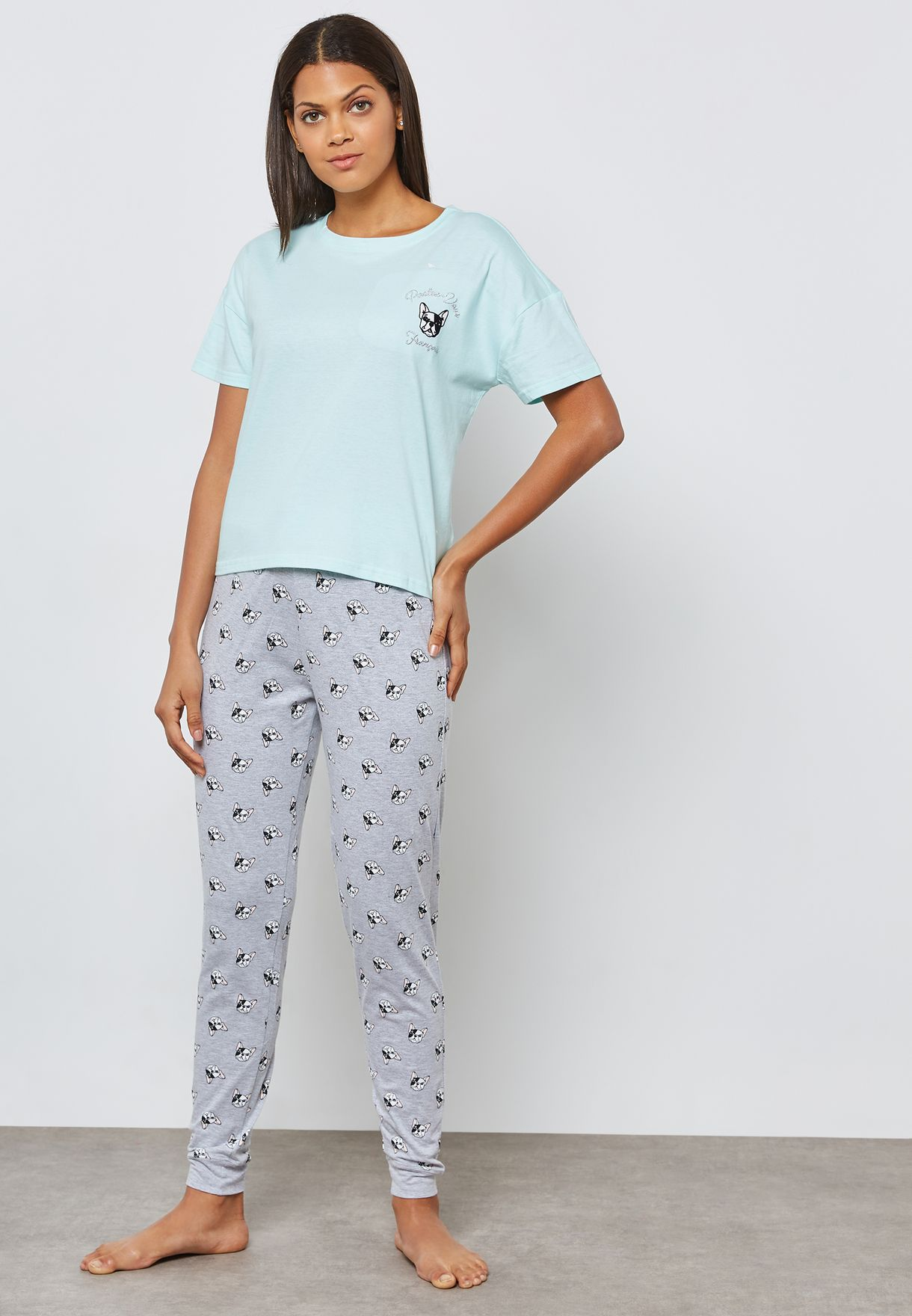 Logo T-Shirt & Pyjama Set