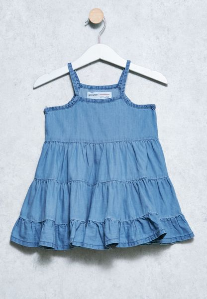 Infant Frilled Chambray Dress