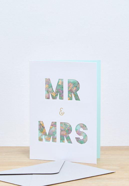 بطاقة تهنئة بالزواج