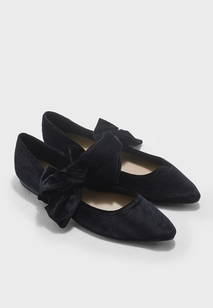Joney Bow Velvet Ballerina