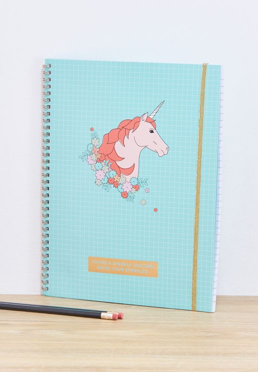 A4 Grid Unicorn Spinout Notebook