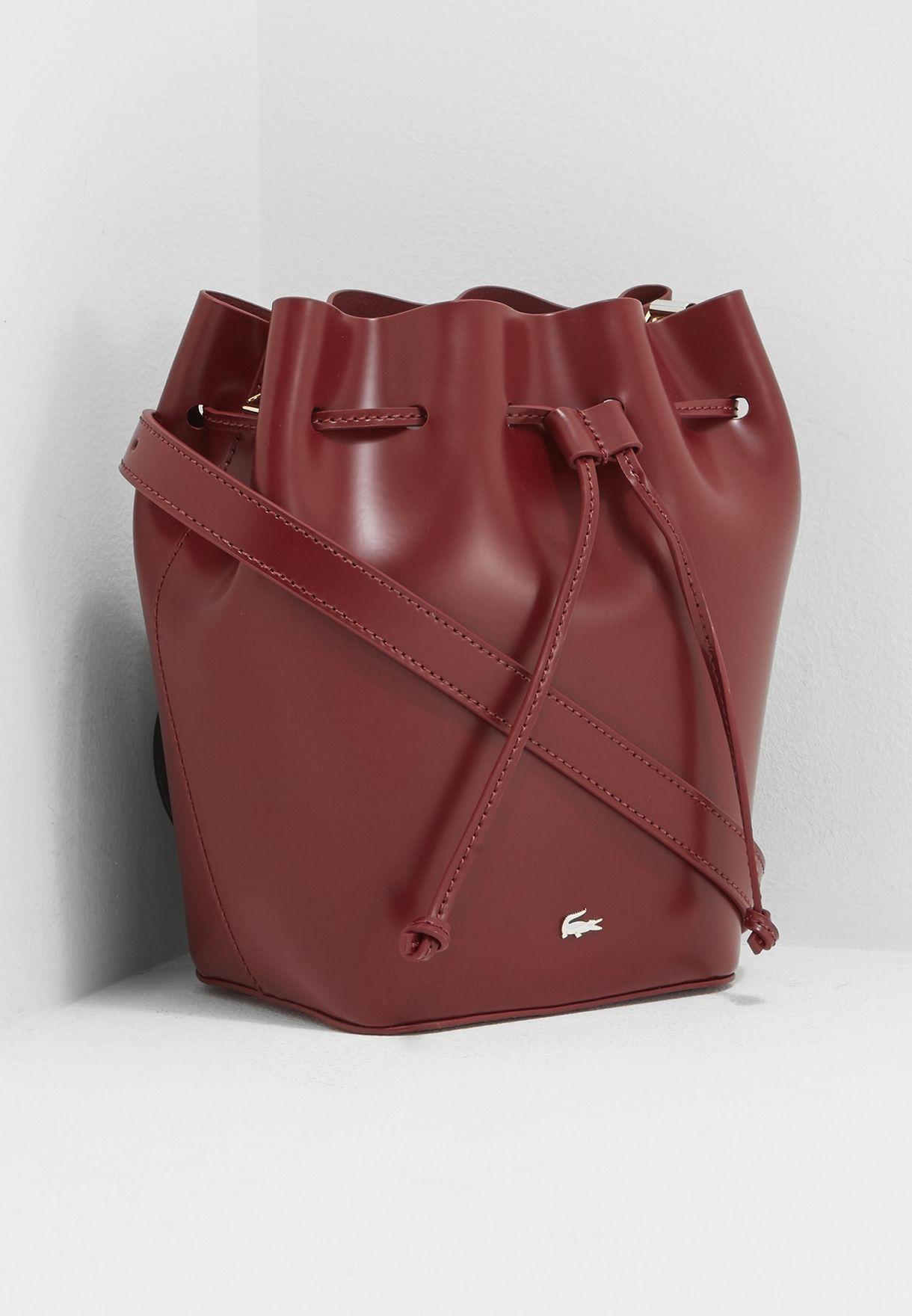 Shop Lacoste red Premium Hobo Bag NF2266MG-984 for Women in Kuwait -  LA014AC47MYA 31a29fa63b235