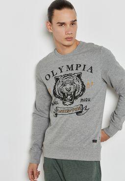 GMS Animal Print Sweatshirt