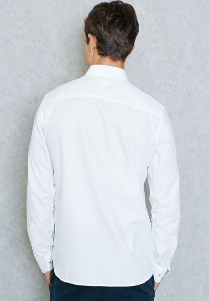 59d5d4b4f3a0 hot sale Shop Jack Jones premium white Tim Slim Fit Shirt for Men in ...
