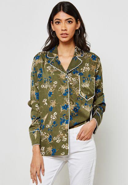 Floral Print Pyjama Shirt