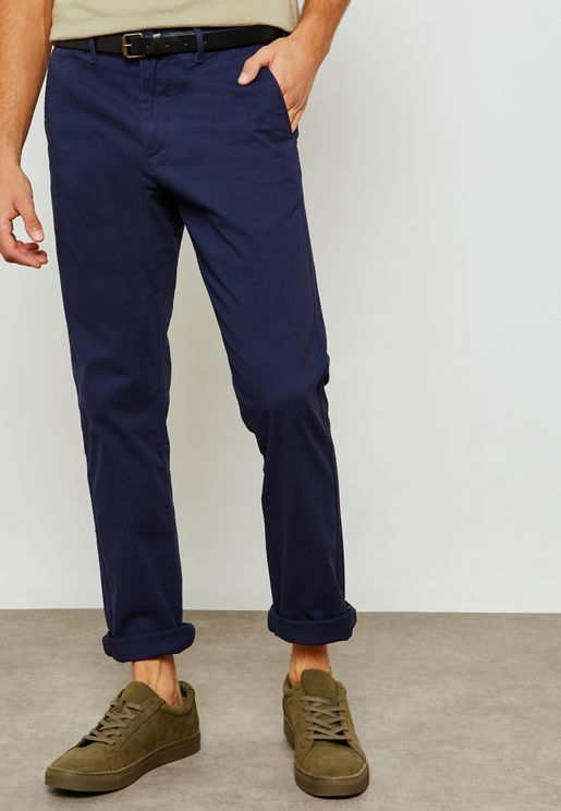 Stuart Slim Fit Trousers With Belt