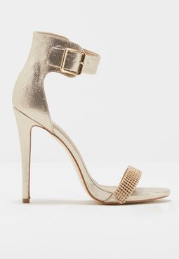 Maxi Buckle Ankle Strap Sandal
