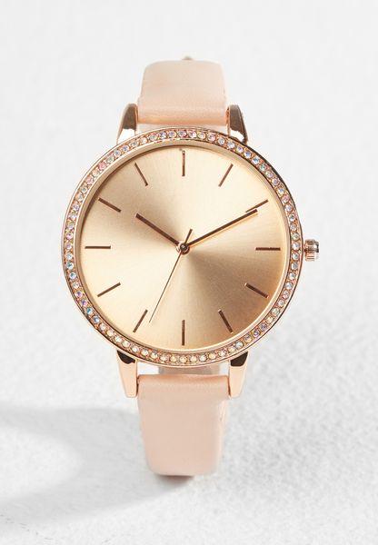Iridiscent Diamante Trim Watch