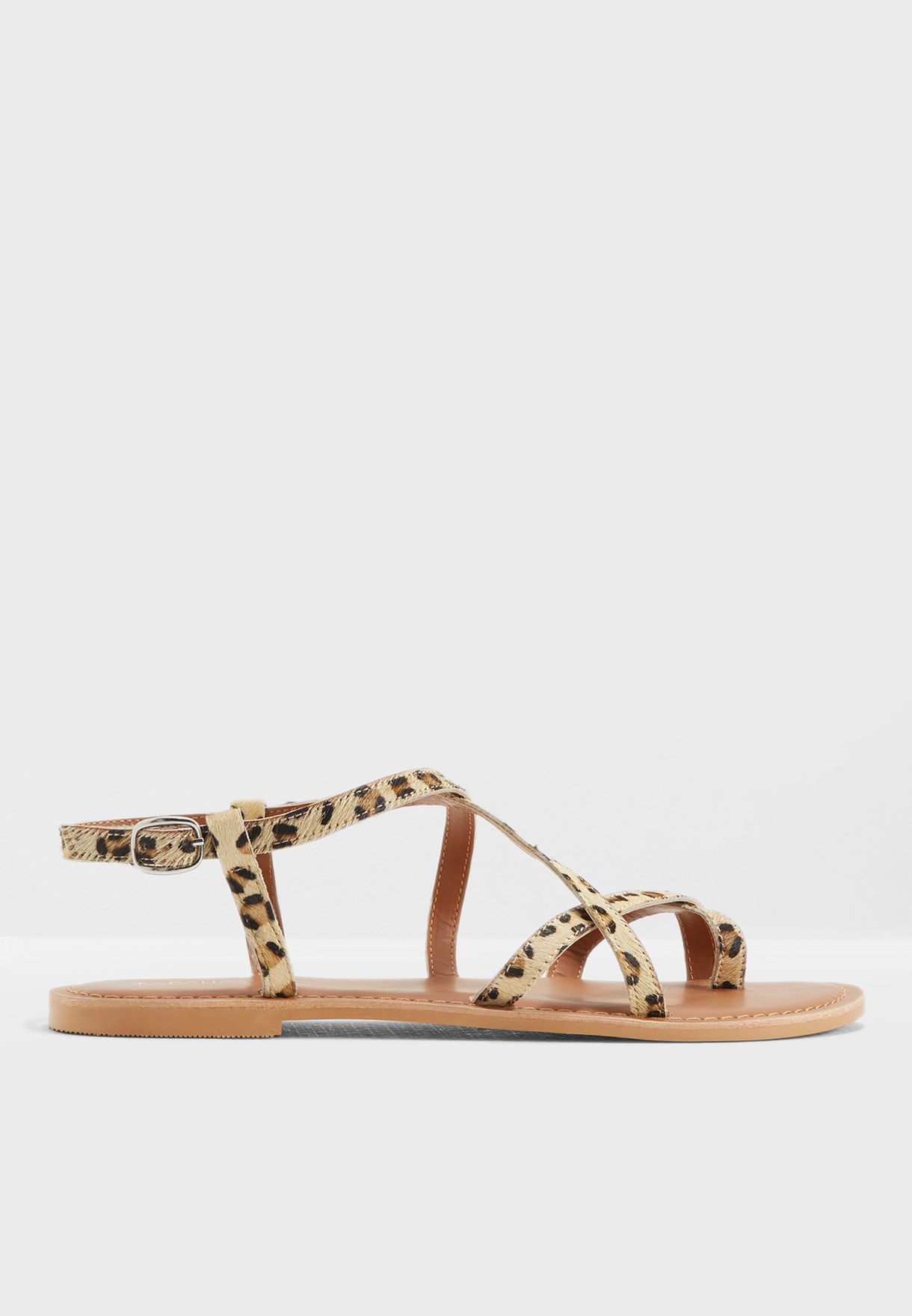 421b6af7cd409c Shop Topshop prints Hiccup Strappy Sandals 42H11NTRL for Women in ...