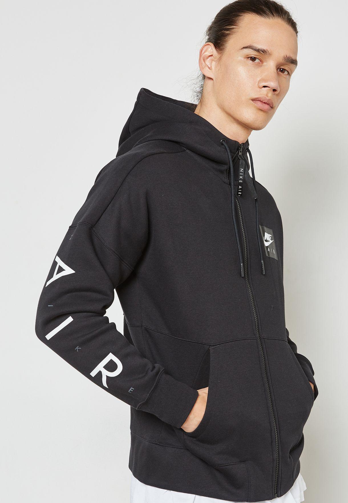 Shop Nike black Air Fleece Hoodie 886044-010 for Men in Qatar - NI727AT37ZQC a024fa87eb