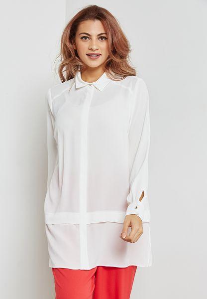 Side Slit Longline Shirt