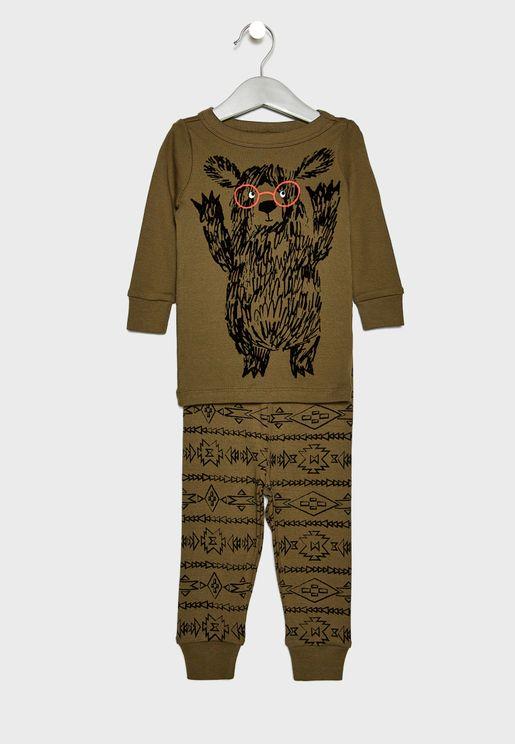 Kids Bear Pyjama Set