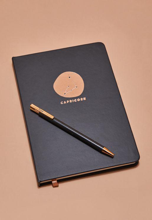 Capricorn Notebook And Pen Set