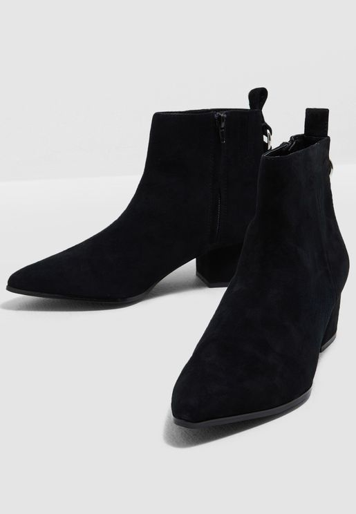 Clover Low Heel Boot