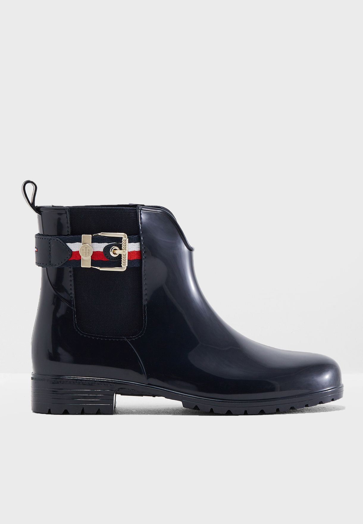 51abae2a15db1d Shop Tommy Hilfiger navy Corporate Belt Rain Boot FW0FW03329403 for Women  in Qatar - TO279SH37KNQ