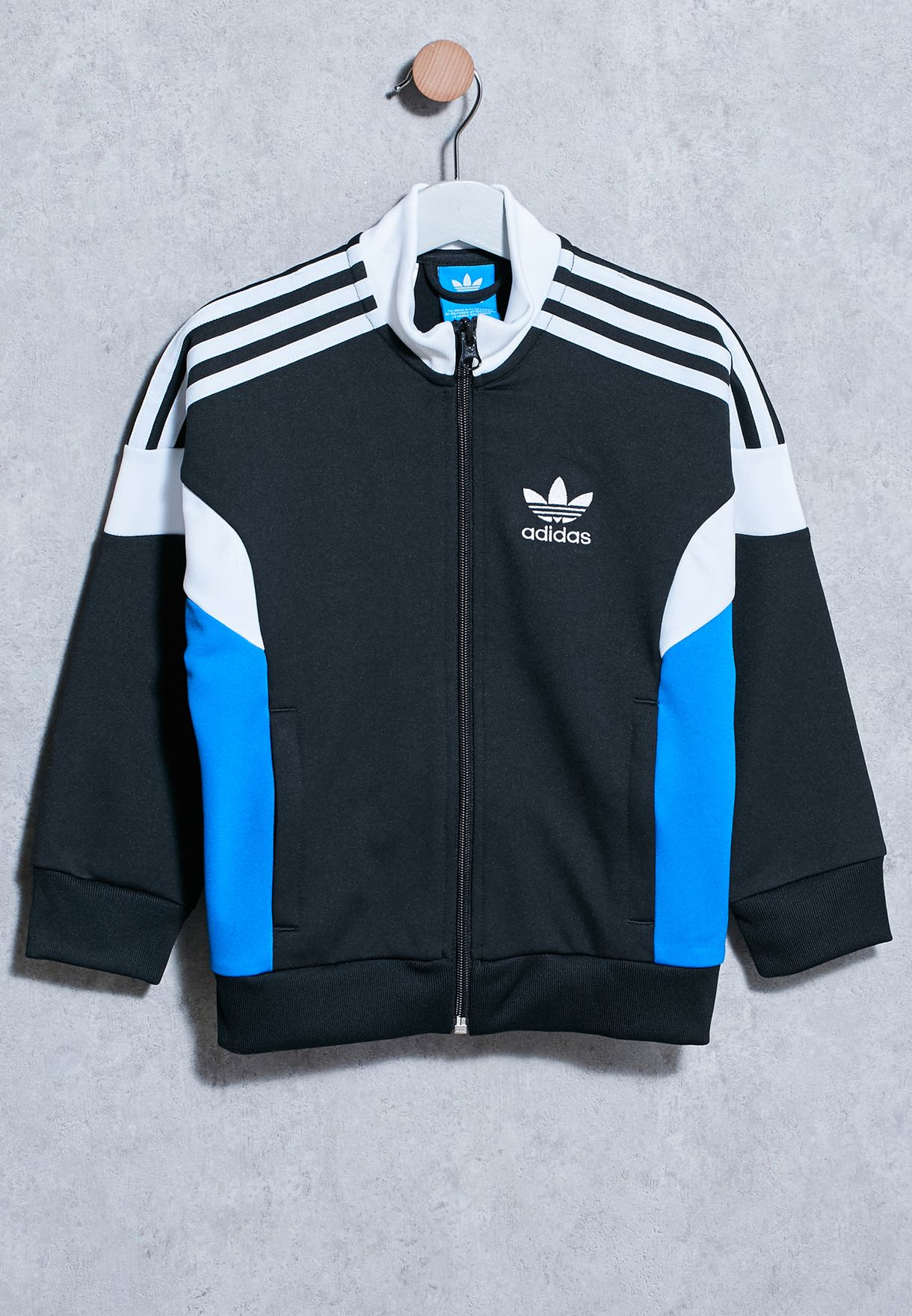 c860d70856bc Shop adidas Originals black Youth CLR84 Track Jackets BJ8919 for ...