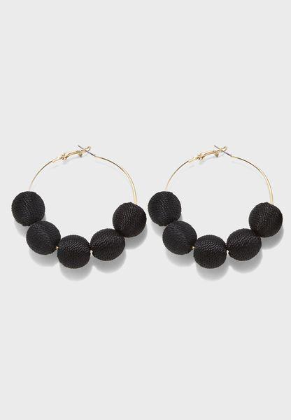 5 Thread Ball Earrings