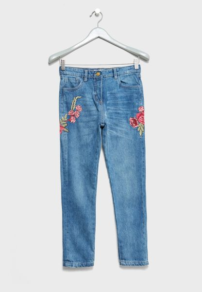 Teen Embroidered Jeans