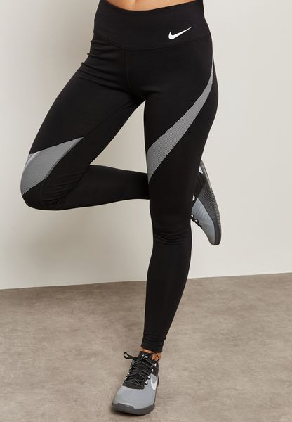 Shop Nike black Dri-FIT Graphic Tights 861199-010 for Women in Globally -  NI727AT37HPY
