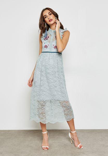 Lace Emebellished Dress