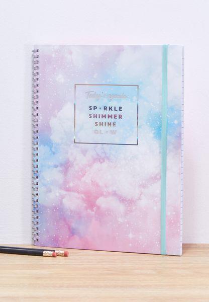 A4 Sparkly Agenda Notebook