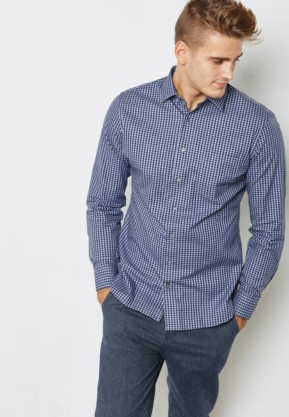 Hedo Slim Fit Check Shirt