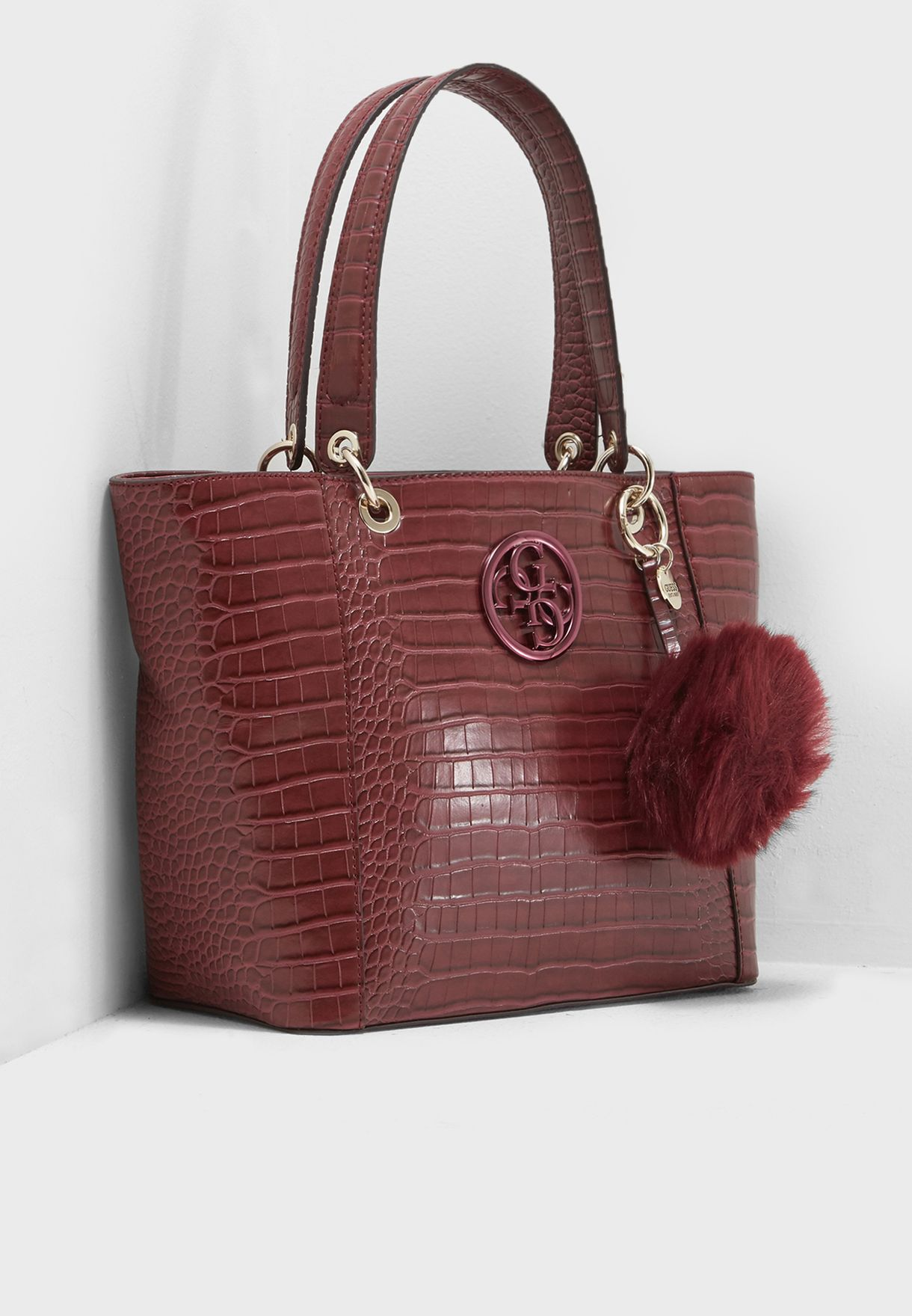 abe0ca2be3 Shop Guess burgundy Kamryn Shopper CC669123BUR for Women in UAE ...