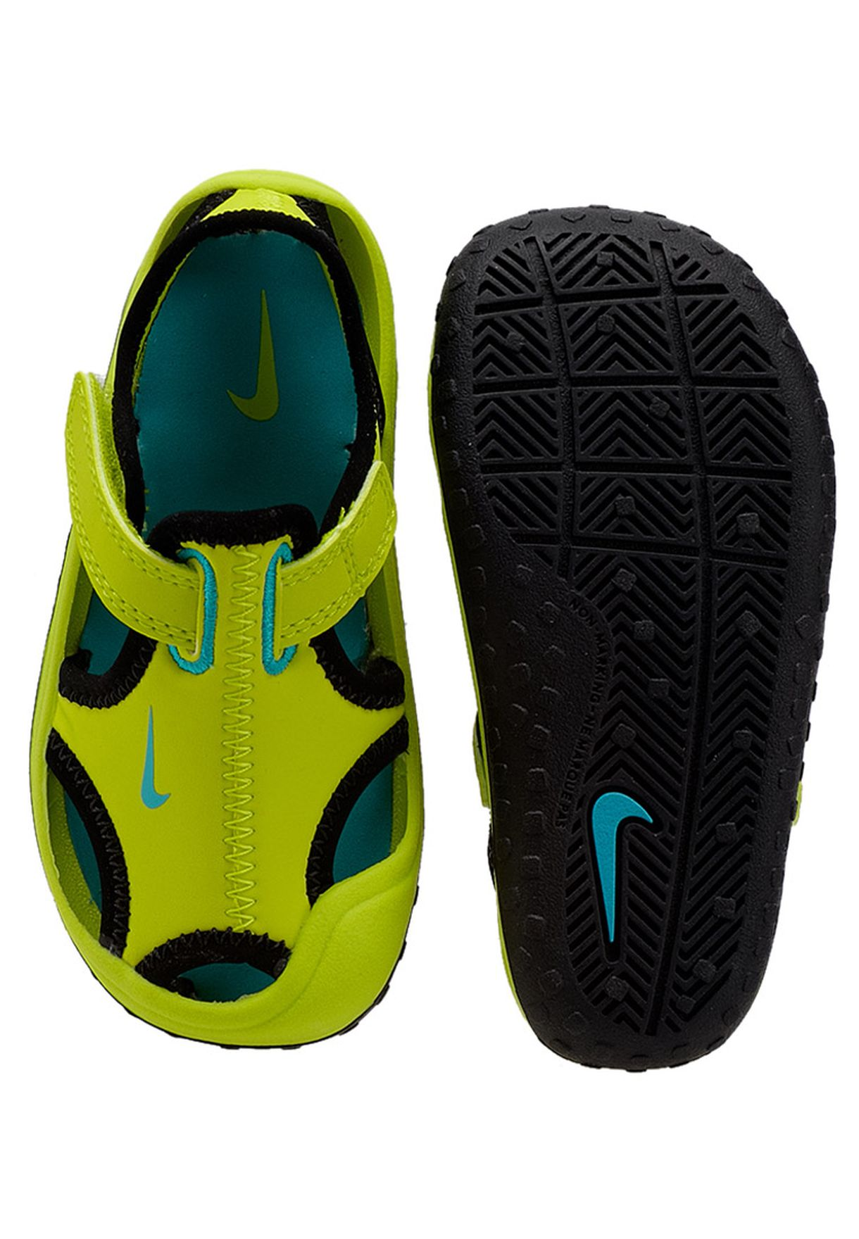 17cfef2d064 Shop Nike green Sunray Protect Sandals 344925-300 for Kids in ...