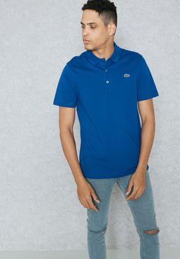 Ribbed Color Polo