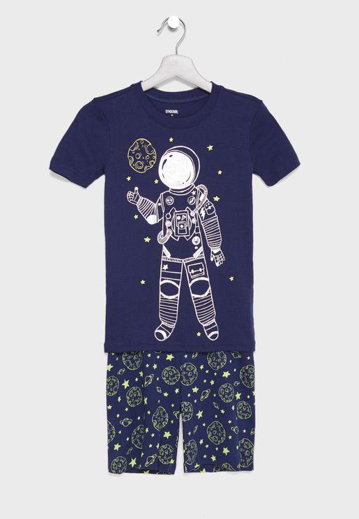 Little Spaceman Pyjama Set