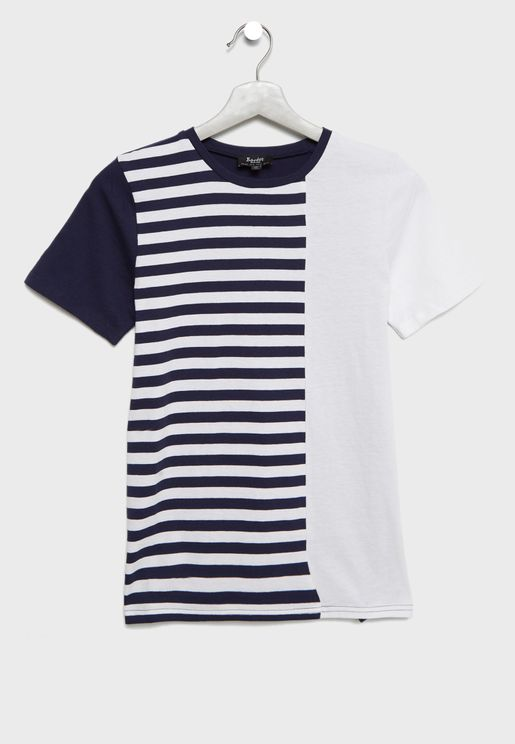 Teen Splice Striped T-shirt