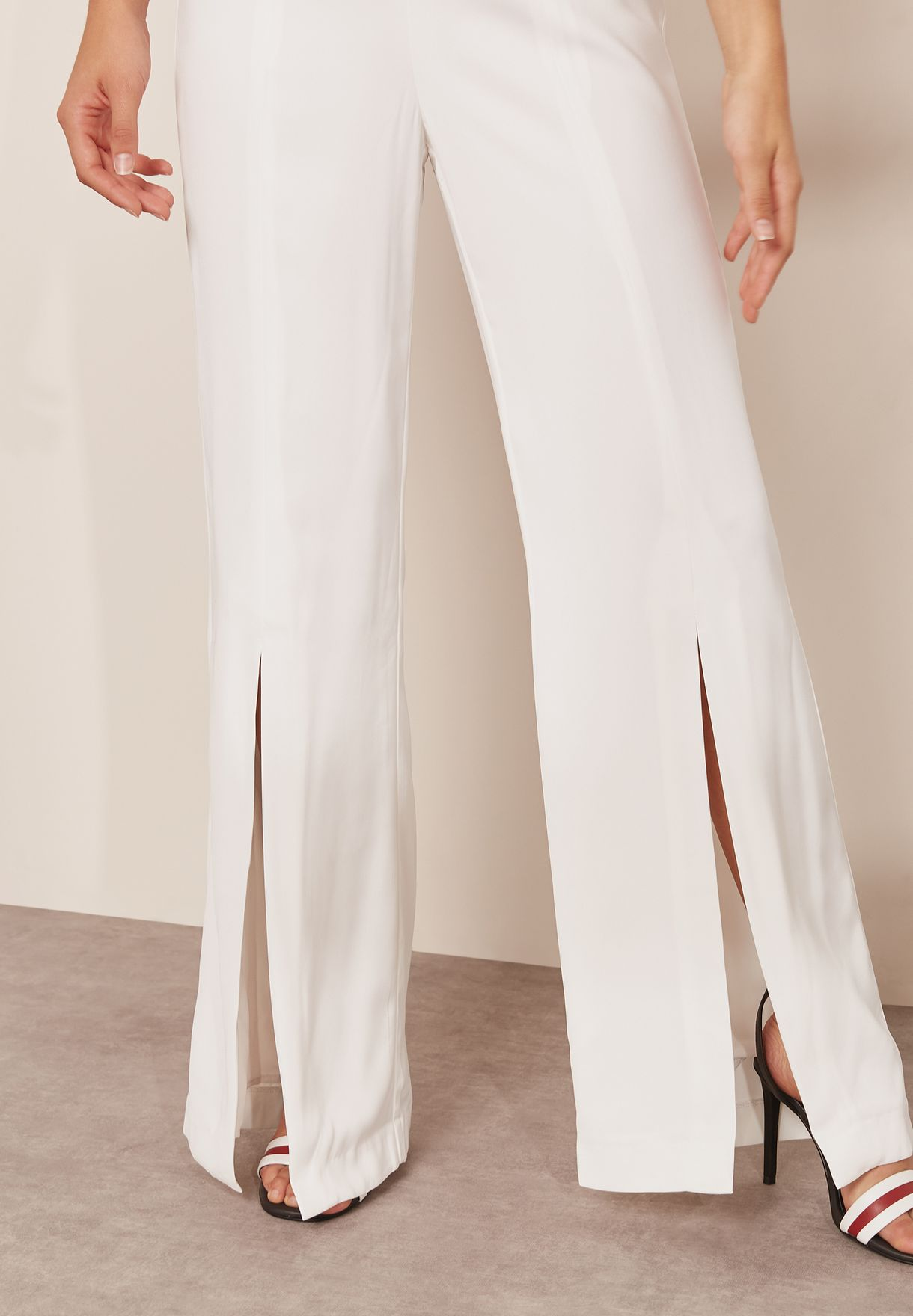 With You Ruffle Detail Bandeau Jumpsuit
