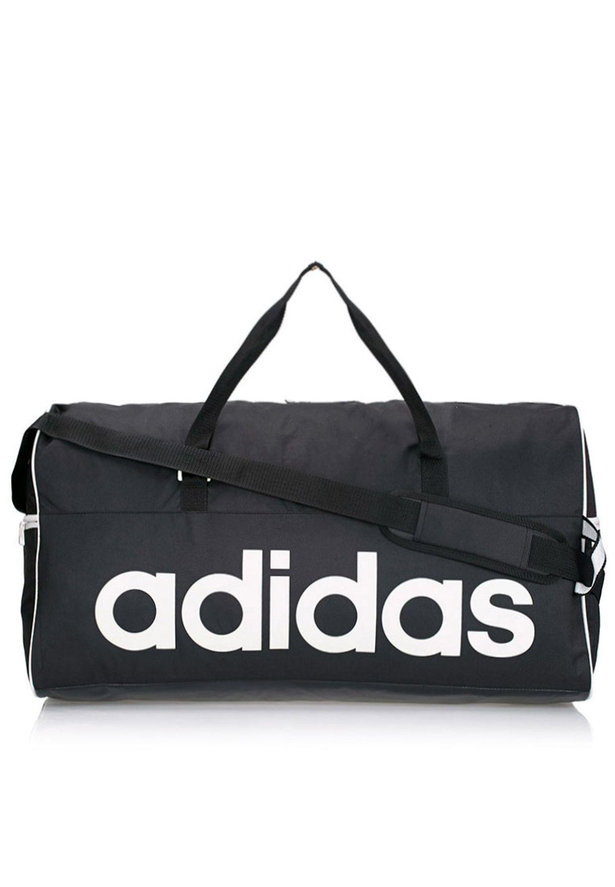 93d6ebffbbe7 Shop adidas black Large Linear Performance Duffel Bag M67875 for Men ...