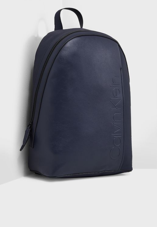 Elevated Logo Round Backpack