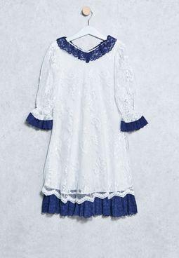 Kids Floral Lace Dress