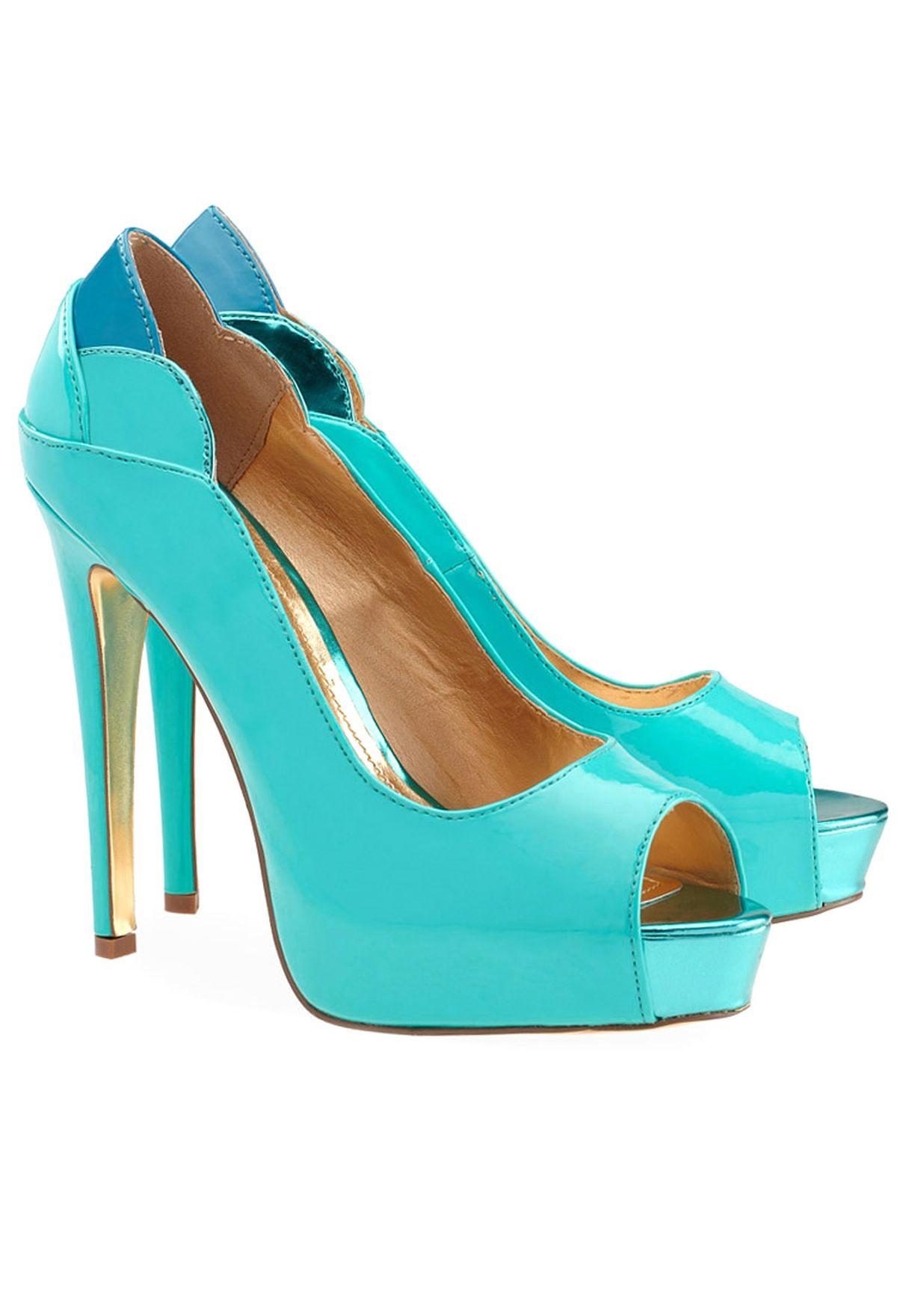 1f75a1b7e90 Shop Even odd blue Peep Toe Pump for Women in Saudi - EV477SH37ABI