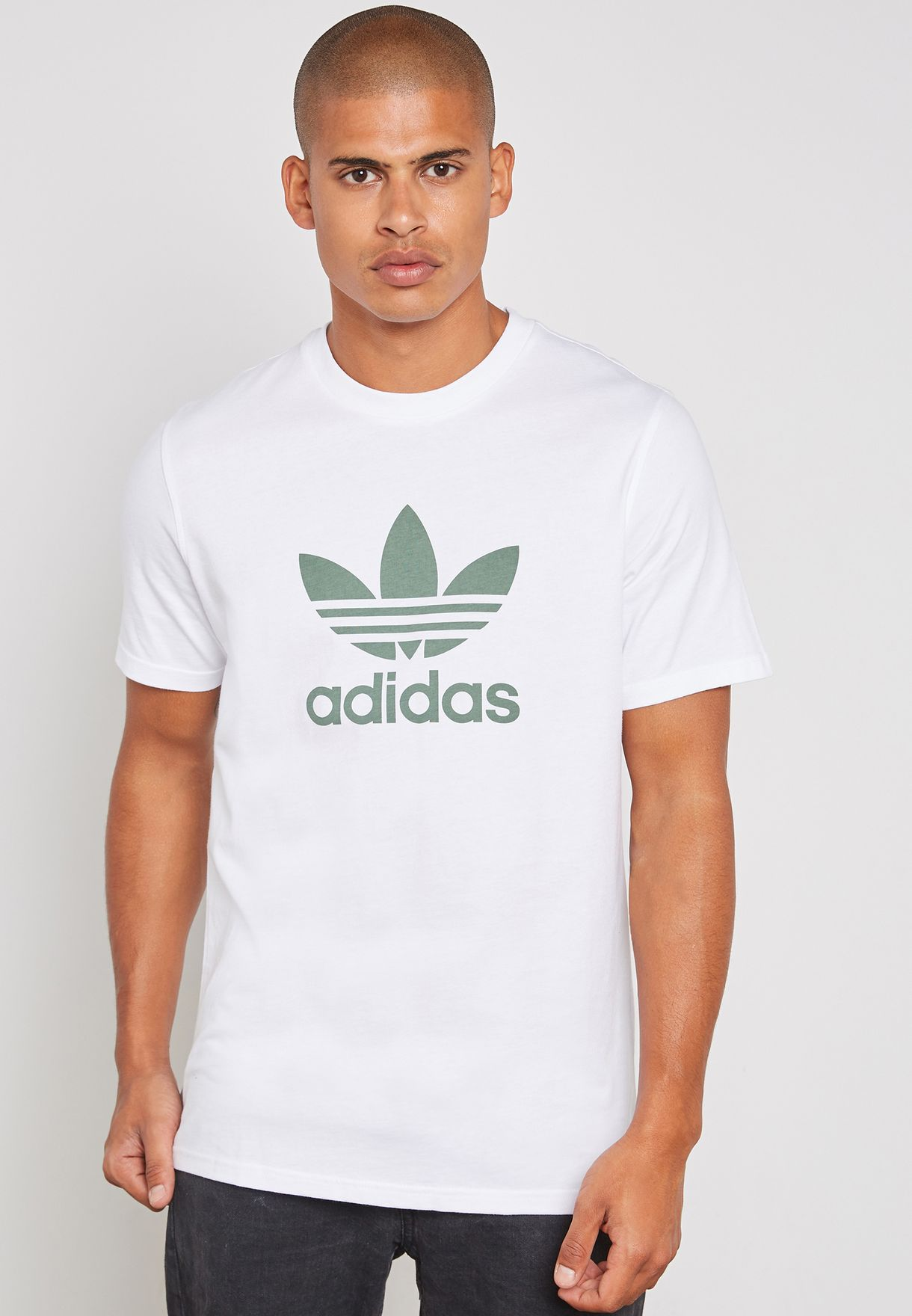 Shop adidas Originals white Trefoil T-Shirt DH5773 for Men in Saudi -  AD478AT37KGW 5d54948fe1