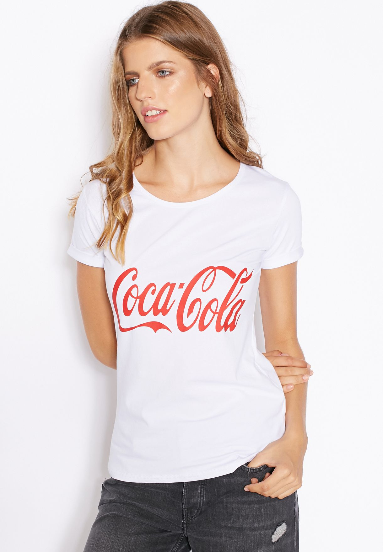 0f38df12 Shop Ginger white Coca Cola T-Shirt for Women in UAE - GI121AT37FXY