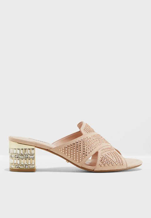 748a4bd2bb Magic Di Crystal Embellished Cross Sandals. Dune London
