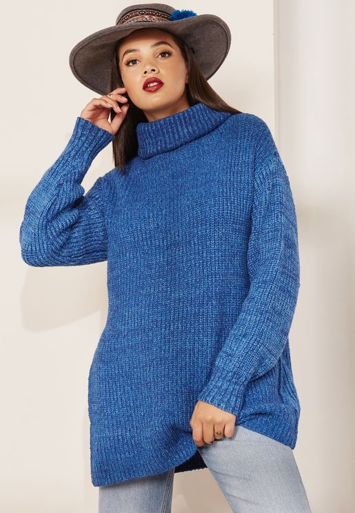 Eleven High Neck Longline Sweater