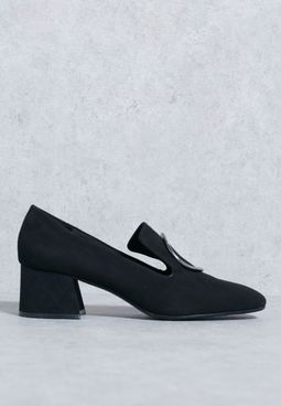 حذاء سهل الارتداء بكعب سميك