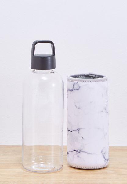 Marble Neoprene Sleeve Water Bottle