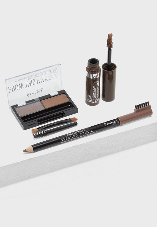Raise Your Brow Game Kit Medium Brown