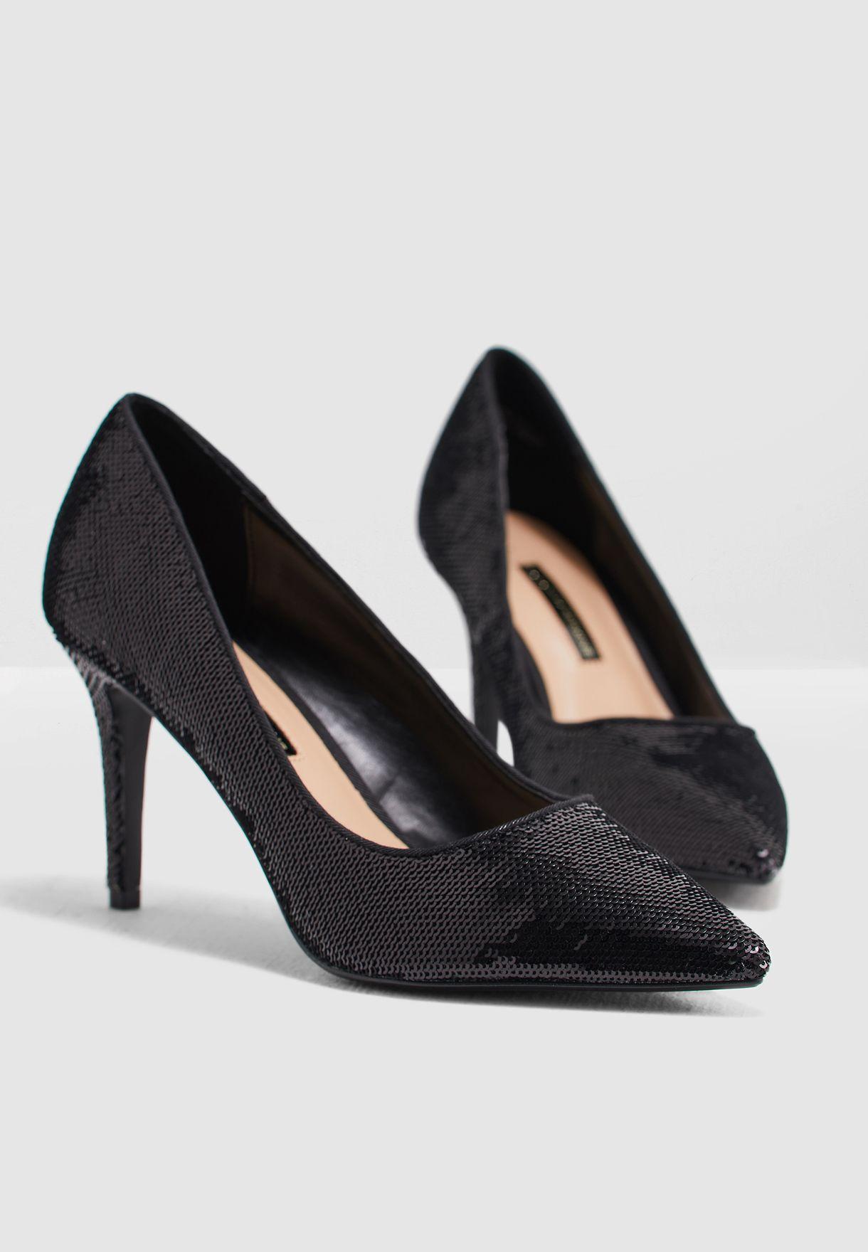 fa222b258a9e1 Shop Dorothy Perkins black Ezzy Sequin Court Shoe 19152810 for Women in  Bahrain - DO860SH37GTM
