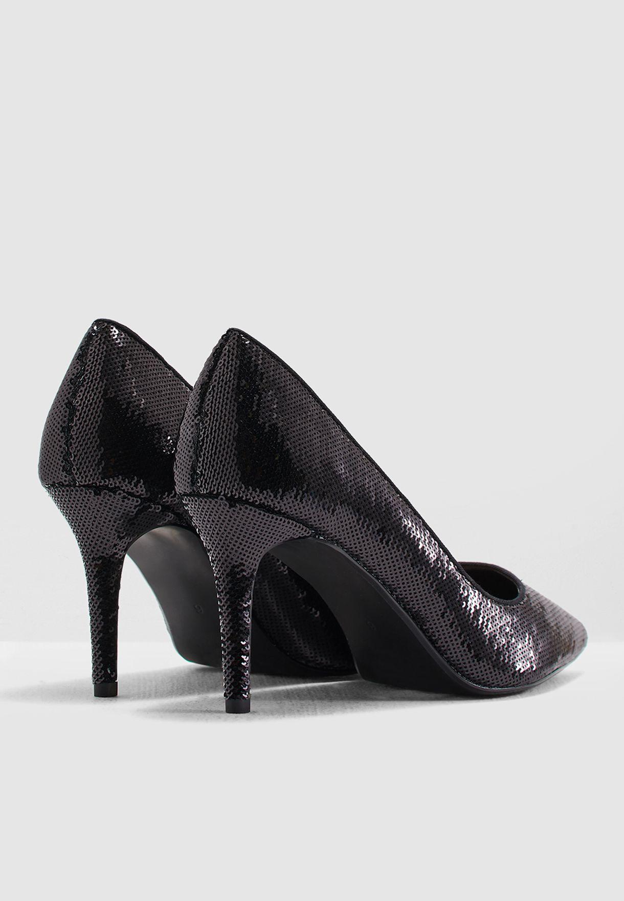 c810e890e5cba Shop Dorothy Perkins black Ezzy Sequin Court Shoe 19152810 for Women ...