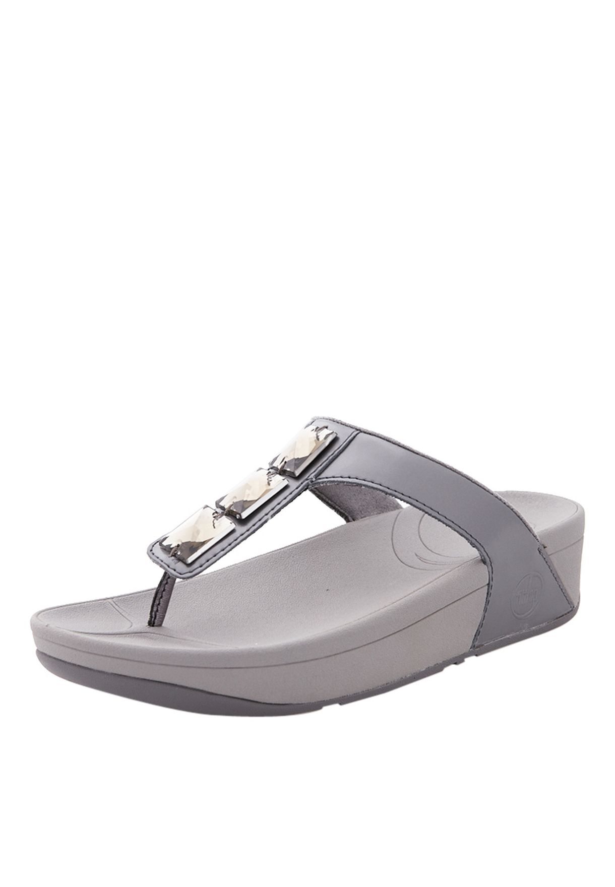 ca9c4ad73 Shop Fitflop grey Pietra Flat Sandals for Women in Bahrain ...